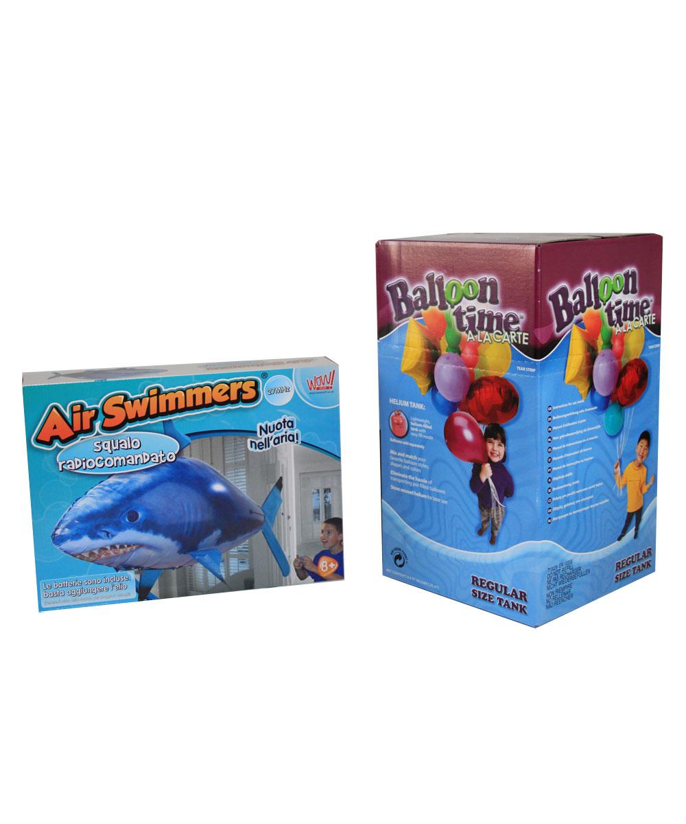Pesce Squalo Volante AirSwimmers con Bombola Elio