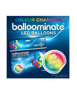 Confezione 15 Palloncini BALLOOMINATE® Bianchi con LED Multicolore