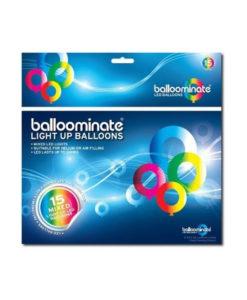 Confezione 15 Palloncini a LED BALLOOMINATE® MULTICOLORE