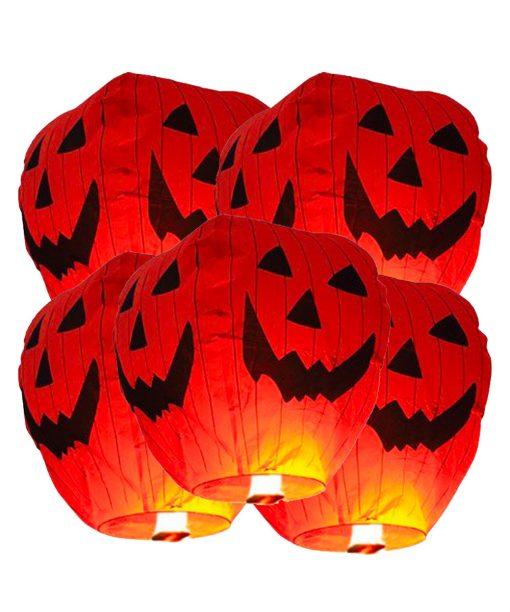 5 Lanterna volante di carta Sky Lanterns HALLOWEEN Premium