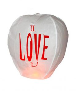 "Lanterna dei desideri SkyLanterns ""I LOVE YOU"" Premium"