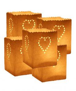 5 Sacchetti porta candele - Candle Bags CUORI