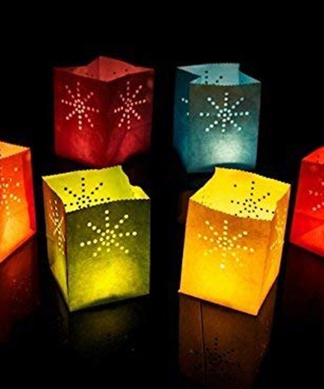 Sacchetti porta candele Candle Bags - FIREWORKS Multicolore